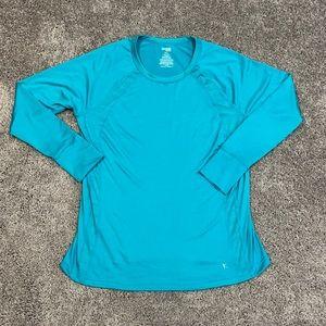 NWOT Women's blue active top size XL